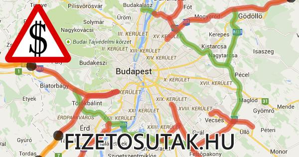 budapest útdíj térkép Fizetősutak.hu   A fizetős útszakaszok térképe! budapest útdíj térkép